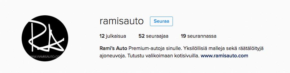 ramis-auto-instagramissa